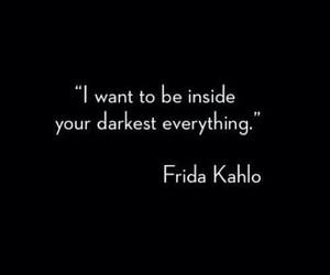 quotes, frida kahlo, and dark image