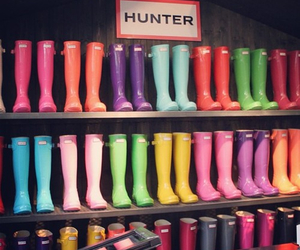 hunter, boots, and colorful image