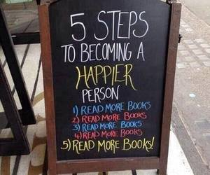 book, happy, and read image