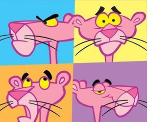 pink and pink panther image