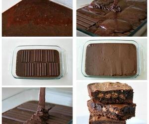 brownies, diy, and kitkat image