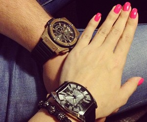 nails, watch, and love image