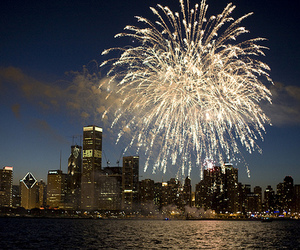 fireworks, city, and photography image