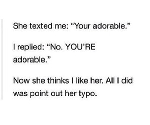 adorable, texting, and typo image