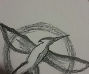 dibujos, the hunger games, and mockingjay image