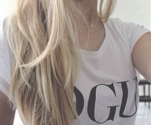 vogue, girl, and hair image