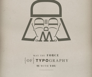 typography, star wars, and darth vader image