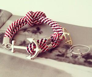 anchor, beautiful, and bracelet image