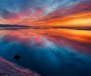 beautiful, reflection, and shoreline image