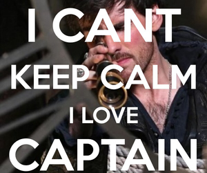keep calm, captain hook, and colin odonoghue image