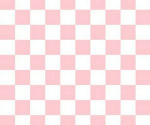 checkered, lovely, and pink image