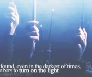 harry potter, light, and wands image