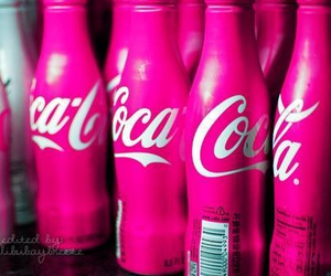 pink, coca cola, and coke image