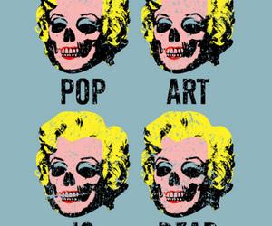 pop art, Marilyn Monroe, and skull image