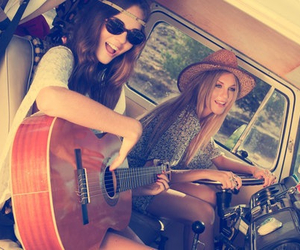 girls, hipsters, and music image