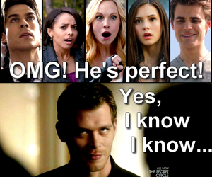 tvd, klaus, and caroline image