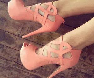 high heels, pink, and sexy image