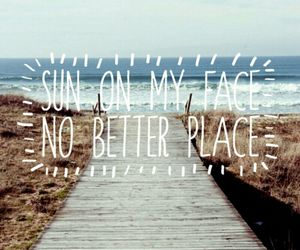 background, quote, and sea image