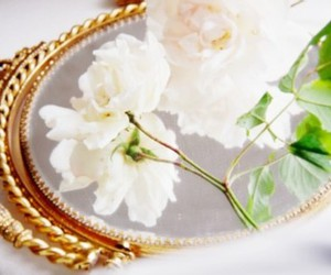 flowers, mirror, and pretty image