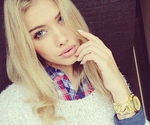 beautiful, blonde, and girl image