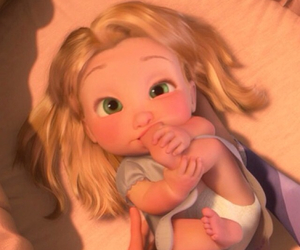baby, disney, and tangled image