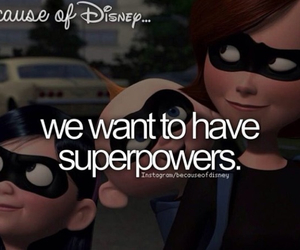disney, because of disney, and super powers image