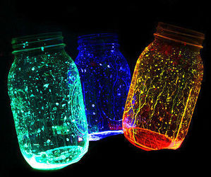 light, jar, and blue image