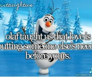 frozen, olaf, and lovefrozen image