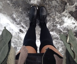 grunge, style, and snow image