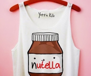 nutella, shirt, and chocolate image