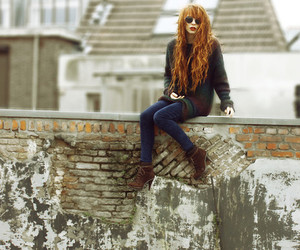 clothes, redhead, and fashion image