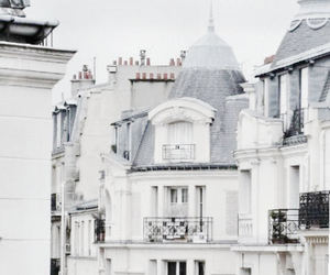white, city, and paris image
