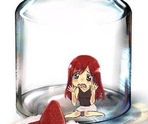 fairy tail, erza, and erza x cake image
