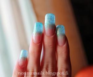 light blue, nails, and nailart image