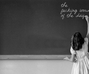 black and white and school image