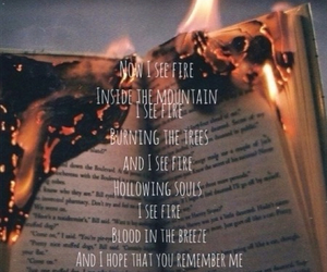 ed sheeran, love, and i see fire image