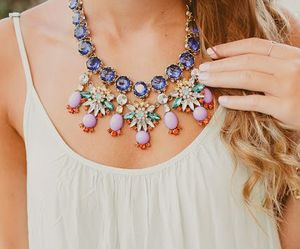 fashion, necklace, and summer image