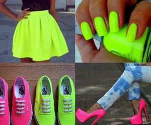 neon, nails, and pink image