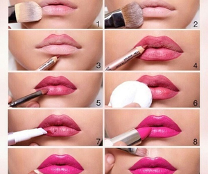 how to, make up, and lip stick image