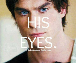 blue eyes, damon, and eyes image