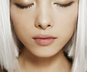 hair, white, and model image