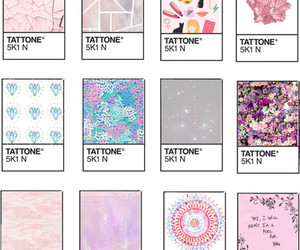 pastel, pink, and tattone image