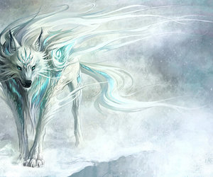 wolf, white, and fantasy image