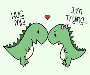 dino, hug, and tumblr image