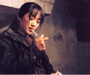 chinese, cigarette, and girl image