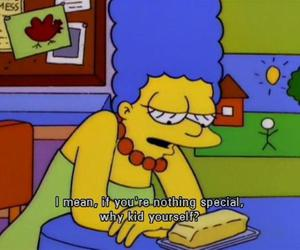 the simpsons and sad image