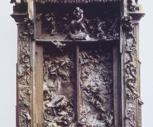art, rodin, and gates of hell image