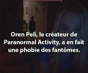 nuit, angoisse, and paranormal activity image