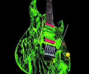 guitar, green, and ibanez image