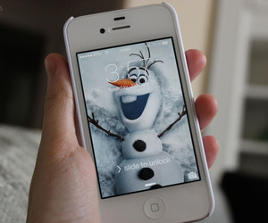 frozen, girl, and olaf image